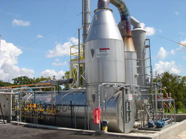 Direct Fired Thermal Oxidizer with Scrubber
