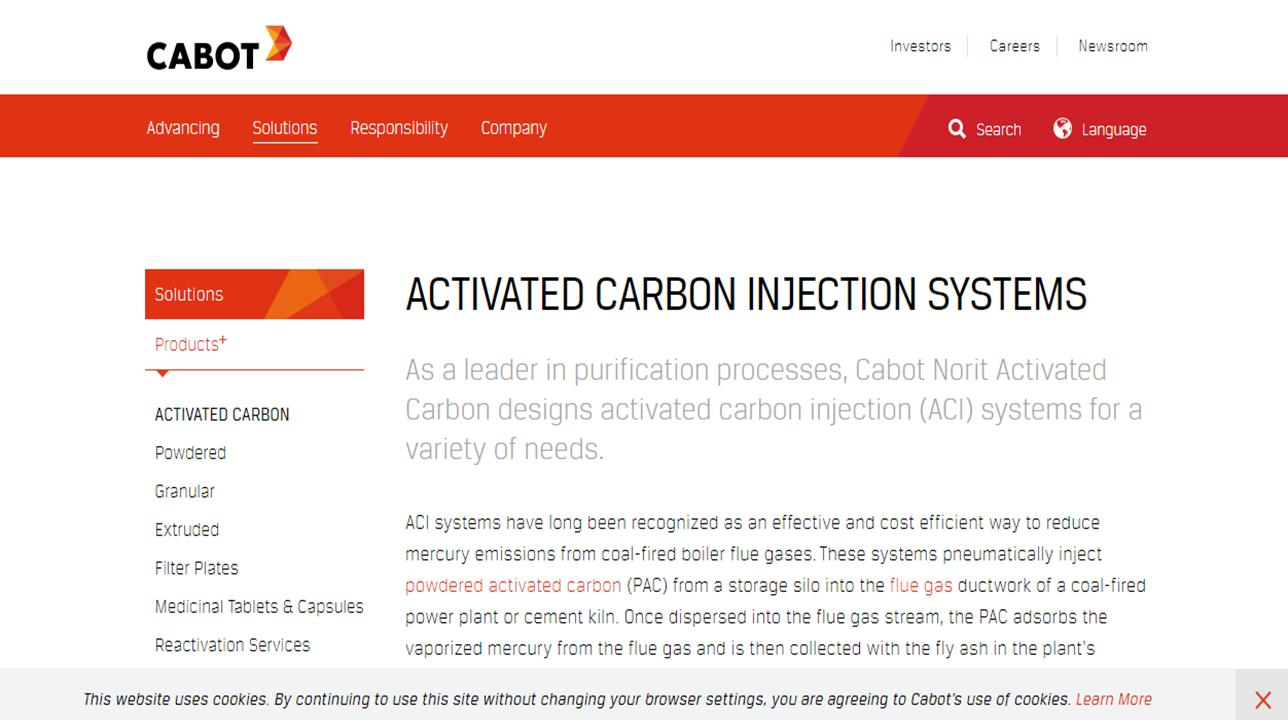 Cabot Norit Activated Carbon